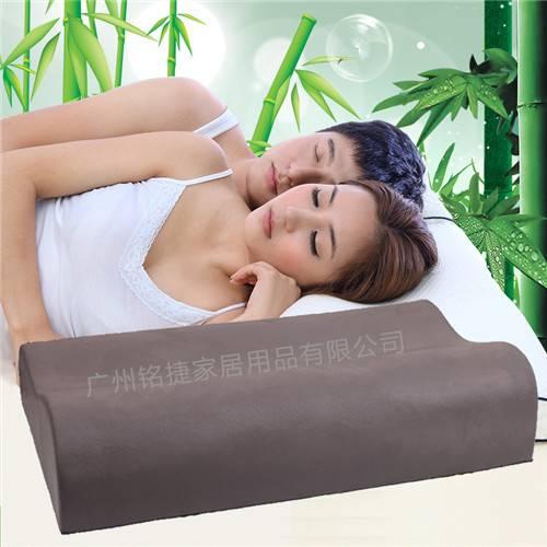 Health Natural Bamboo Charcoal Memory Foam Ergonomic Contour Pillow, High Quality Wave Orthopedic Pi