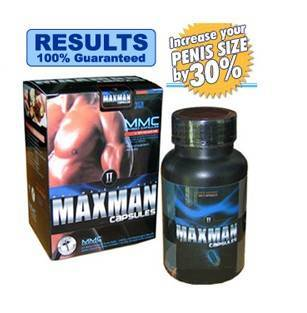 MAXMAN--Penis Enlarging Pill