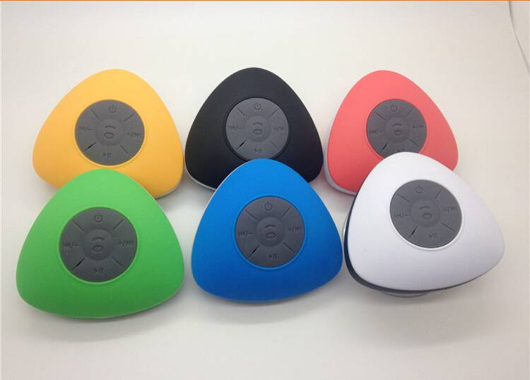 Triangle shape Suction up Waterproof Bluetooth Speaker