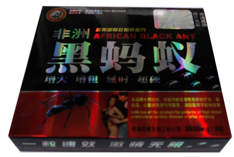 In Stock Africa Black Ant No side effect black ant king libido enhacer sex pills 2800mg*6pills/box