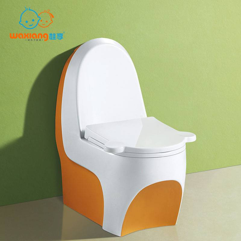[Waxiang WA-8000] Child's White Ceramic Round Small Toilet, Fashion Designed
