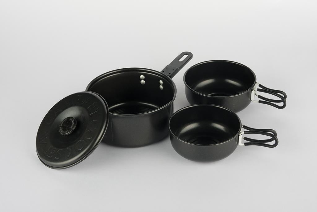 Aluminum painting non stick cook set