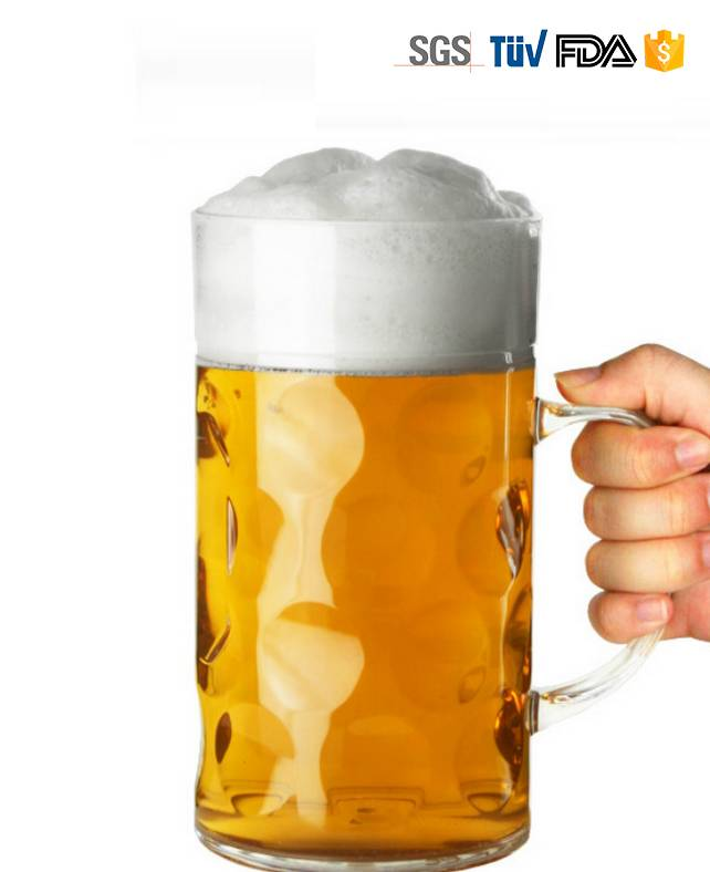 1L High Quality Printed Beer Glass
