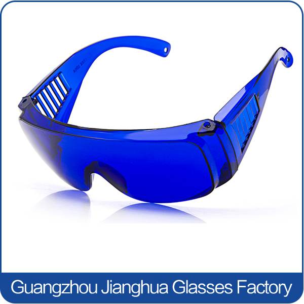 hot workplace supplier blue frame windproof safety eye glasses