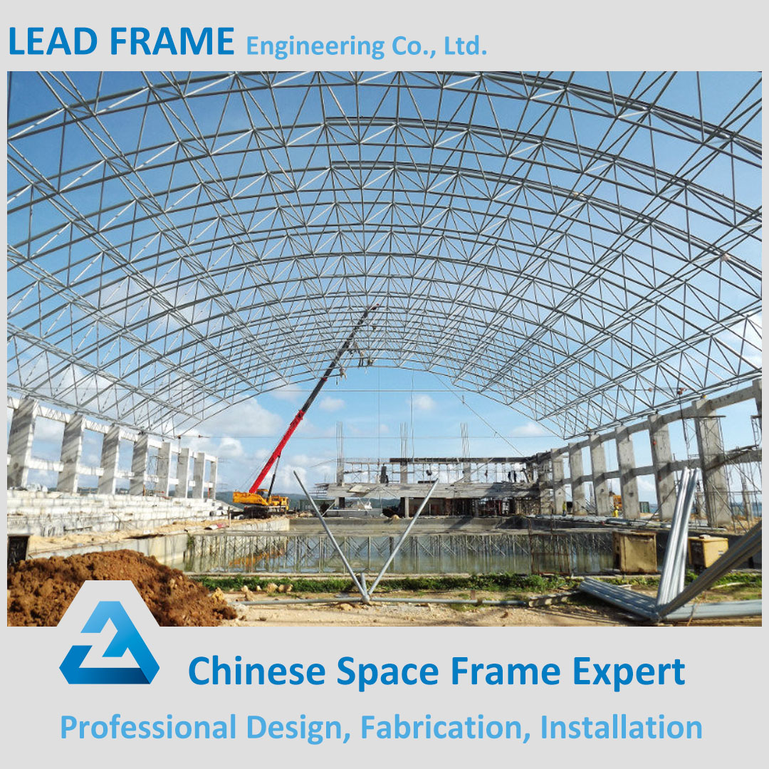 Large span arch storage building steel space frame