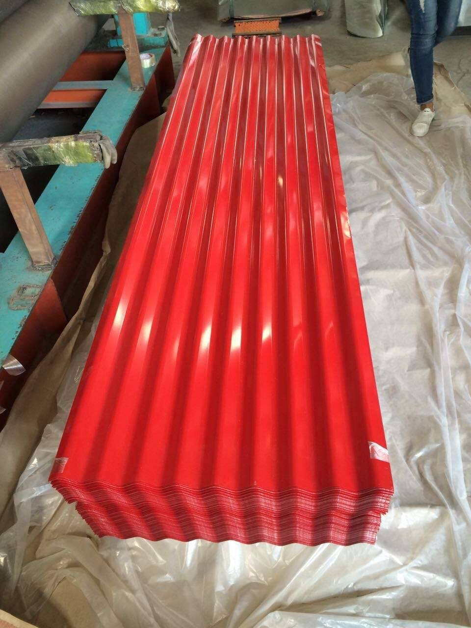 repainted Galvanized Corrugated Roofing Sheet