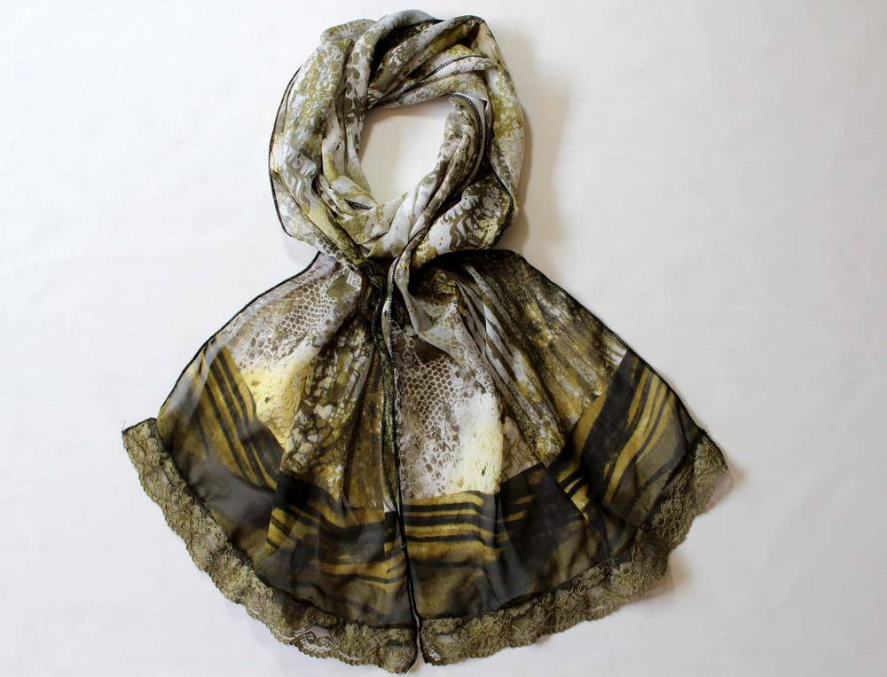 Polyester lace scarf