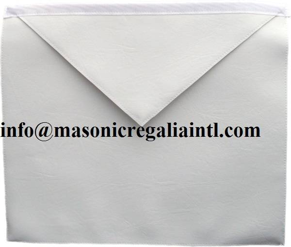 Plain White Leather Aprons