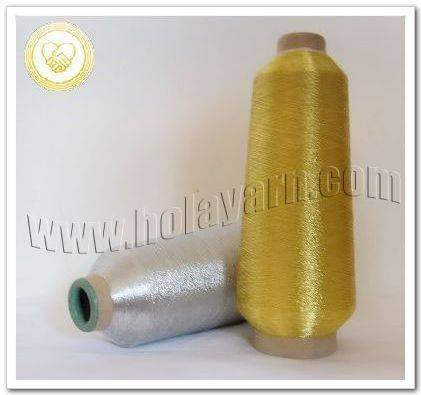 Weaving Metallic yarn