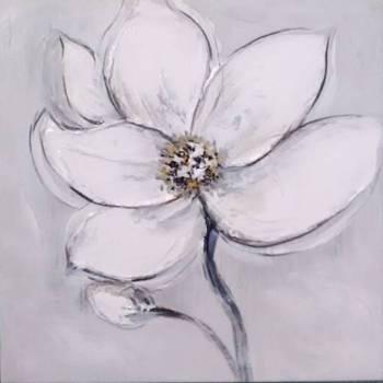 100% Handmade Oil painting Flower
