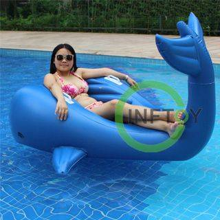 Cute whale inflatable pool floats water air mattress