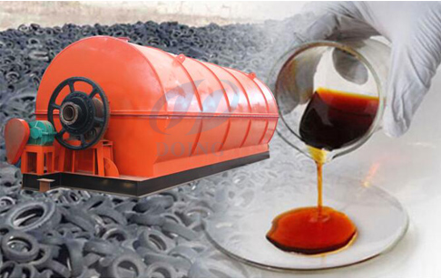 Waste tyre recycling fuel oil pyrolysis plant