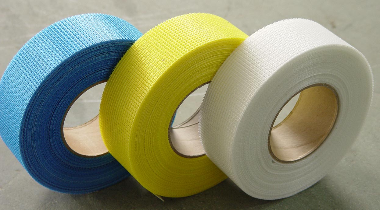 Self adhesive fiberglass mesh tape for plasterboard jointing and drywall repairing
