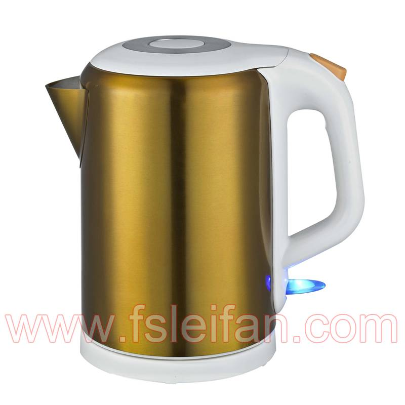 painted on stainless steel body electric kettle