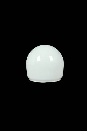 A65 LED round white coated glass lampshade cover