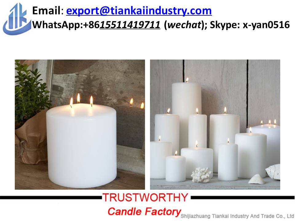 pillar candle factory 3 wick candles wholesale