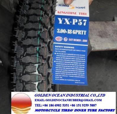 King Stone Mud Grip Motorcycle Tire 300-17 300-18 for Kenya Market