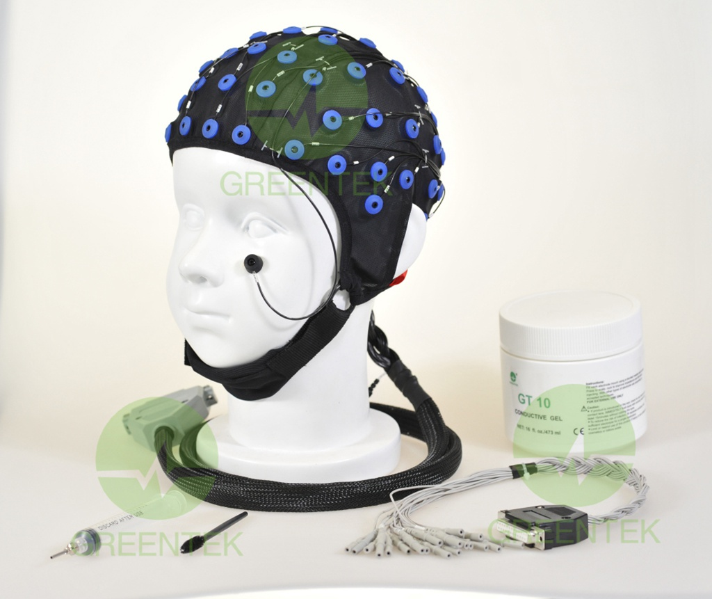 Greentek Long-Term EEG Video Monitoring Electrode Caps