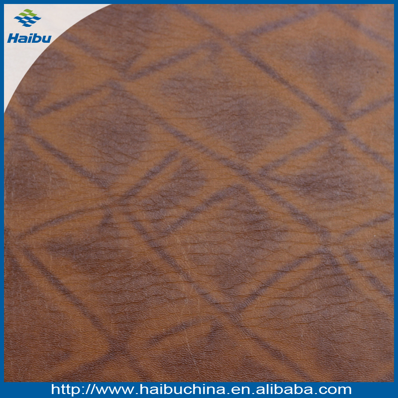 Wholesale Diamond Pattern & Knitted Backing PU Faux Leather for Shoe Lining