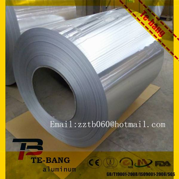 1230mm width Silver aluminium foil with thickness 0.1mm