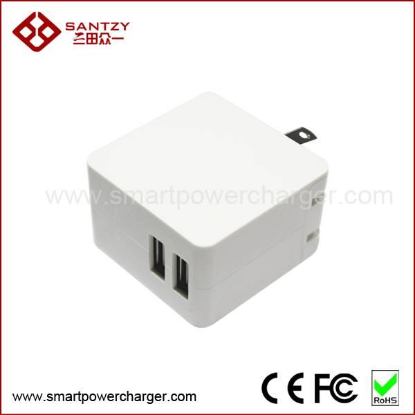 2 ports USB wall charger powerful samrt IC