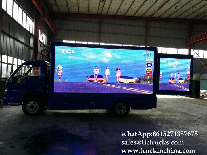 Foton 4x2 LED show mobile advertise truck Cheap sale