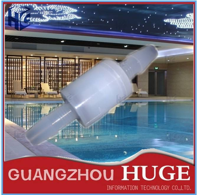 Hot 1 Piece White Teflon One Way Non-return Check Valve 8mm For Aquarium Water Treatment