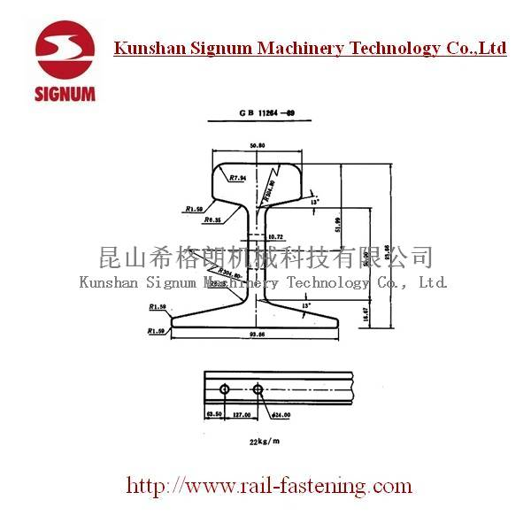 Chinese Standard 22KG Steel Rail