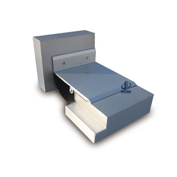 Concrete floor system aluminum expansion joint cover