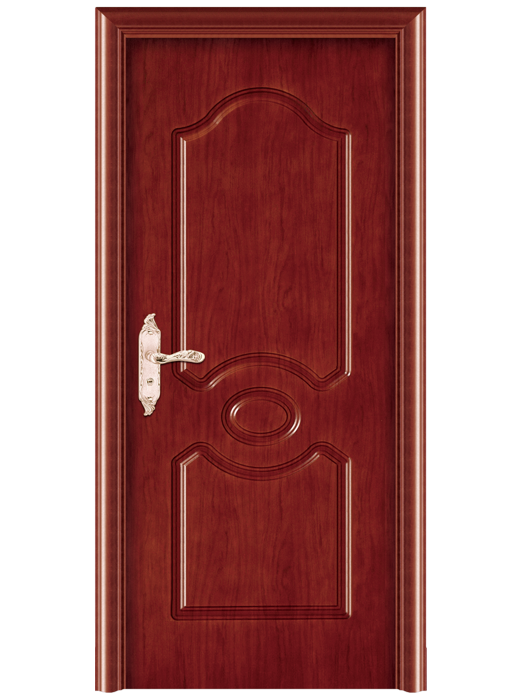 Stylish wooden mother-son door design plain wood bedroom door old qntique solid wood door