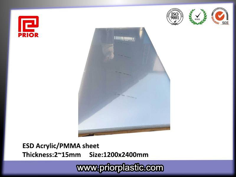 ESD/Anti-static Acrylic sheet/PMMA sheet fot dust-free warehouse