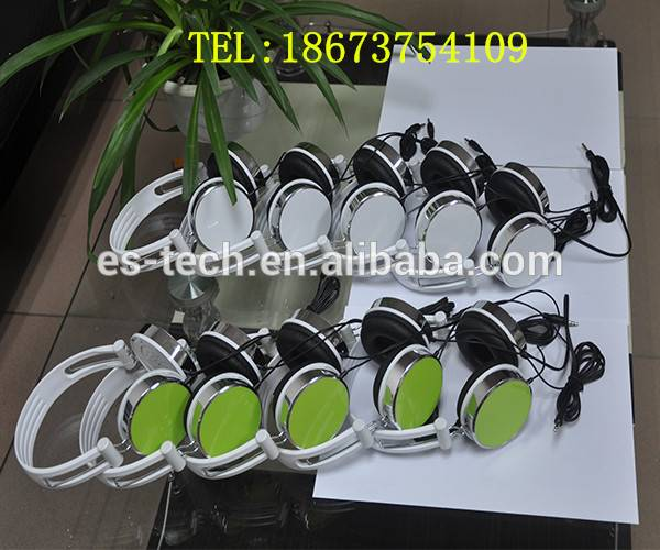 2014 shenzhen oem cool stereo headphone with golden housing
