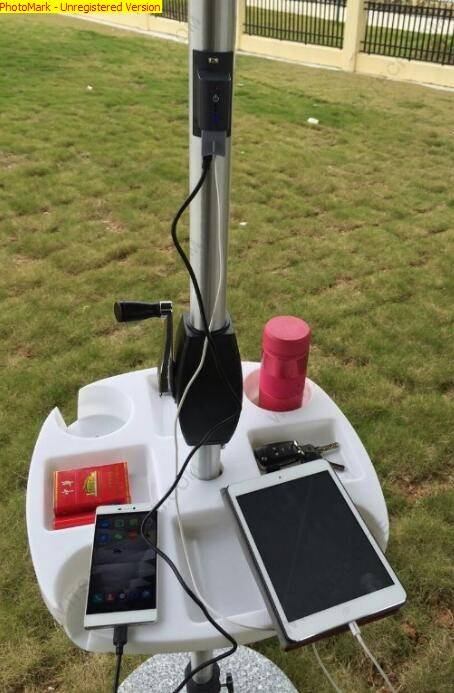 Solar Beach Umbrella with USB Mobile Phone Charger