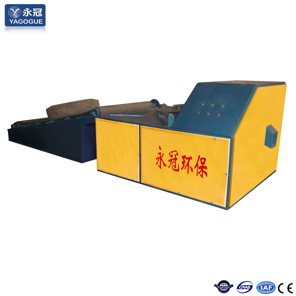 High output capacity tire cutting machine
