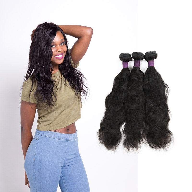 [9A]3 Bundles Brazilian Natural Wave Hair Weave