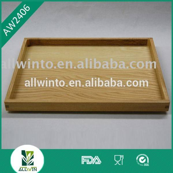 Oak material wooden tray for food and serving