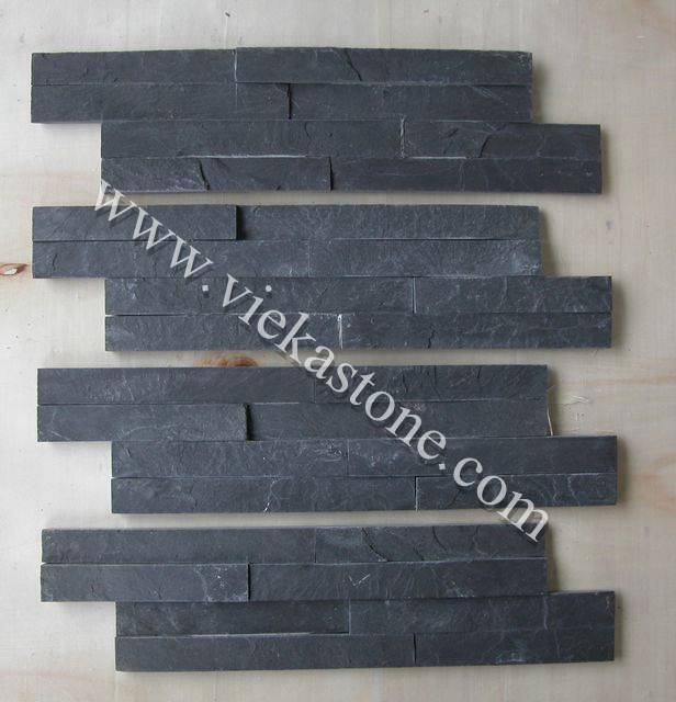 Black slate culture stone Stacked Panels