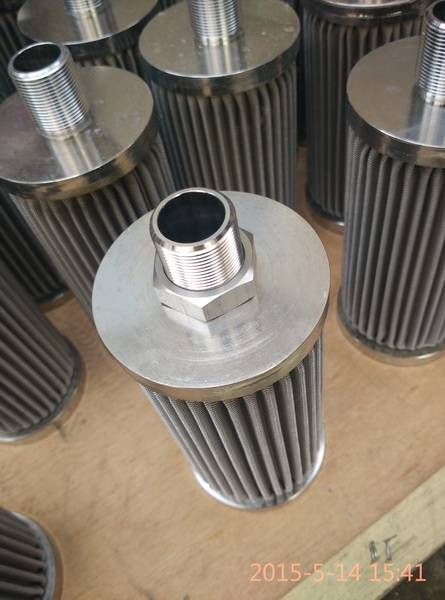 acid stainless steel filter element