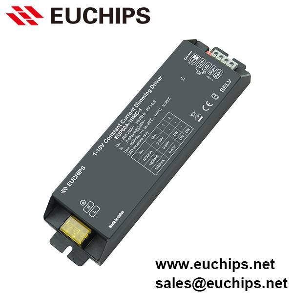 1050/1200/1400mA 1 channel 60W 1-10V dimmable led driver constant current EUP60A-1HMC-0
