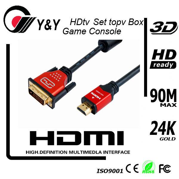 Latest High definition DVI to HDMI cable