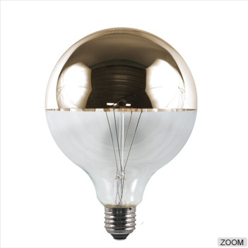 G25 Chrome Top Silver Tipped LED Filament Bulb