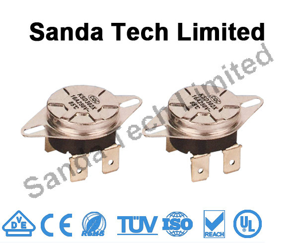 high temperature resistance KSD301/KSD302/KSD306 Normally Closed Temperature Switch Thermostat