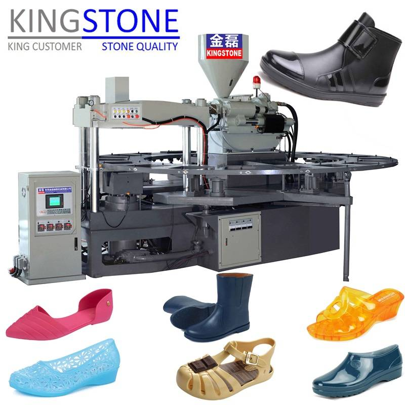 Rotary 1/2 Color Plastic Shoes Injection Moulding Machine