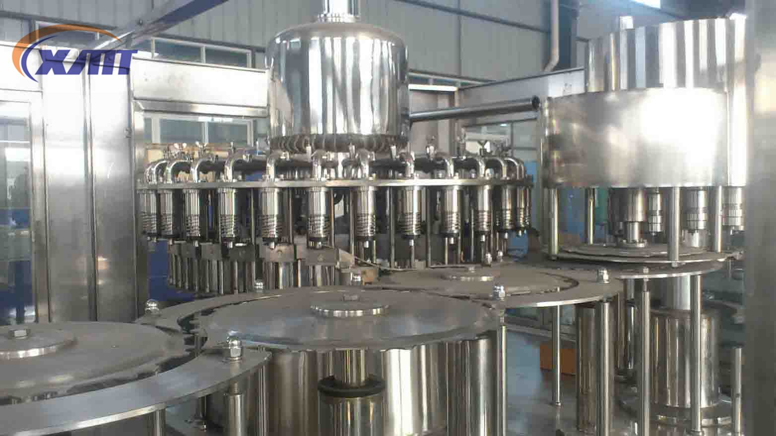 Automatic 4 in 1 hot fruit juice filling machine