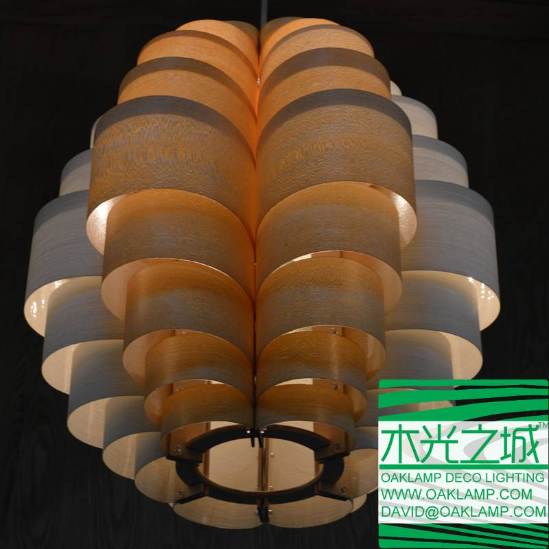 latest design wood lamp made from wood veneer,