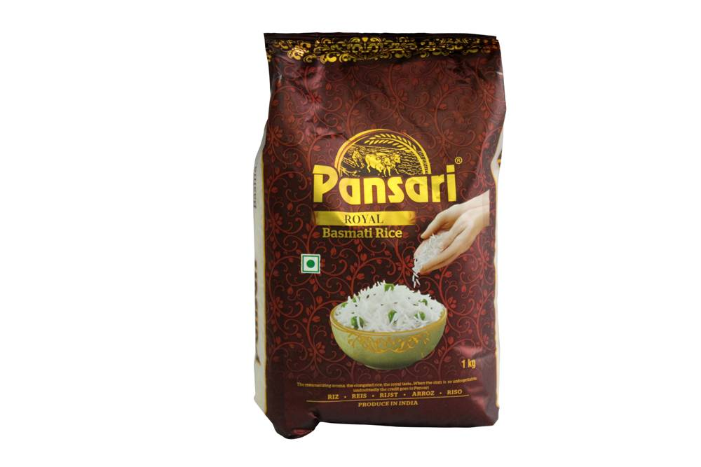 Pansari Royal Basmati Rice 1kg (Pack of 20)