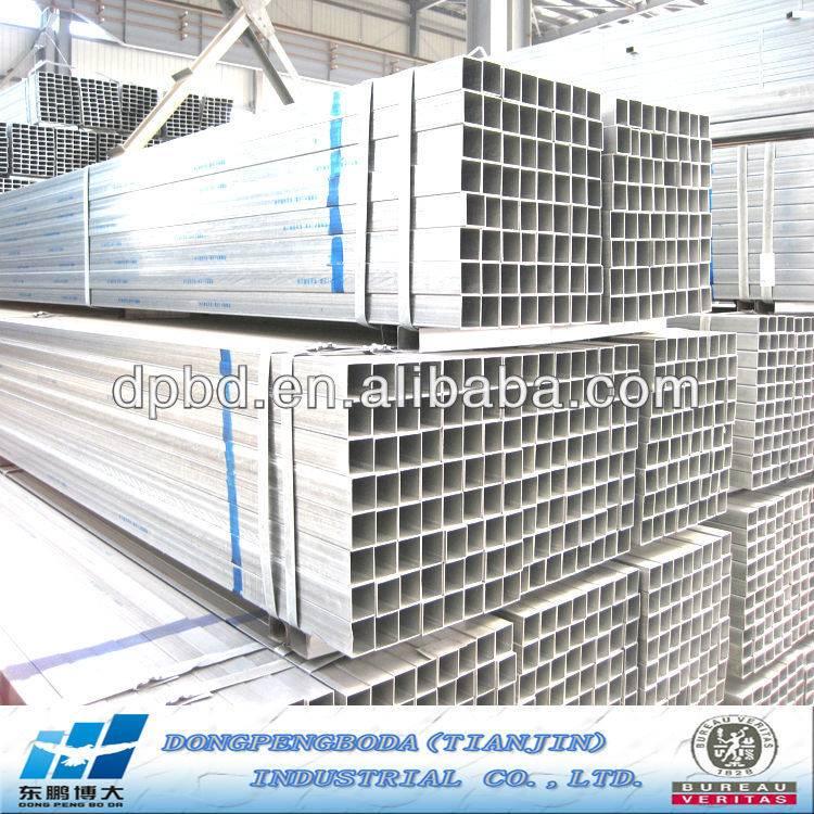 pre-galvanized square and rectangular steel pipe