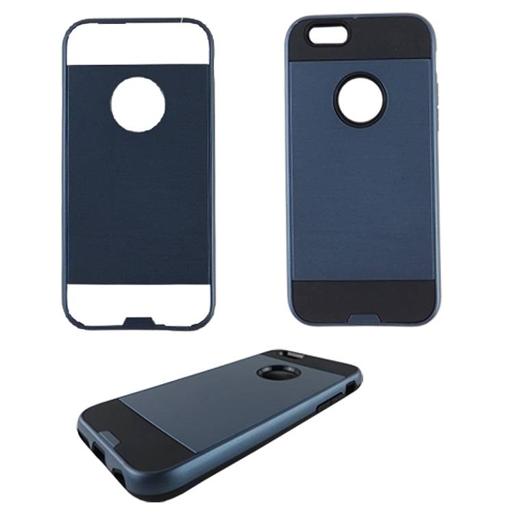 TPU + PC drawing lines 2-in-1 slip cover hybrid phone case