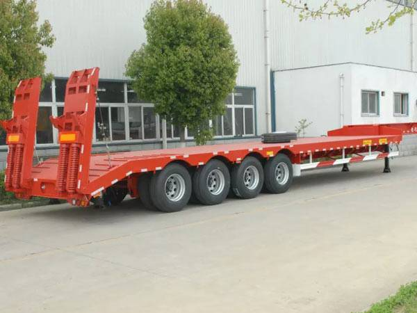 4 axles low bed semi-trailer 80t