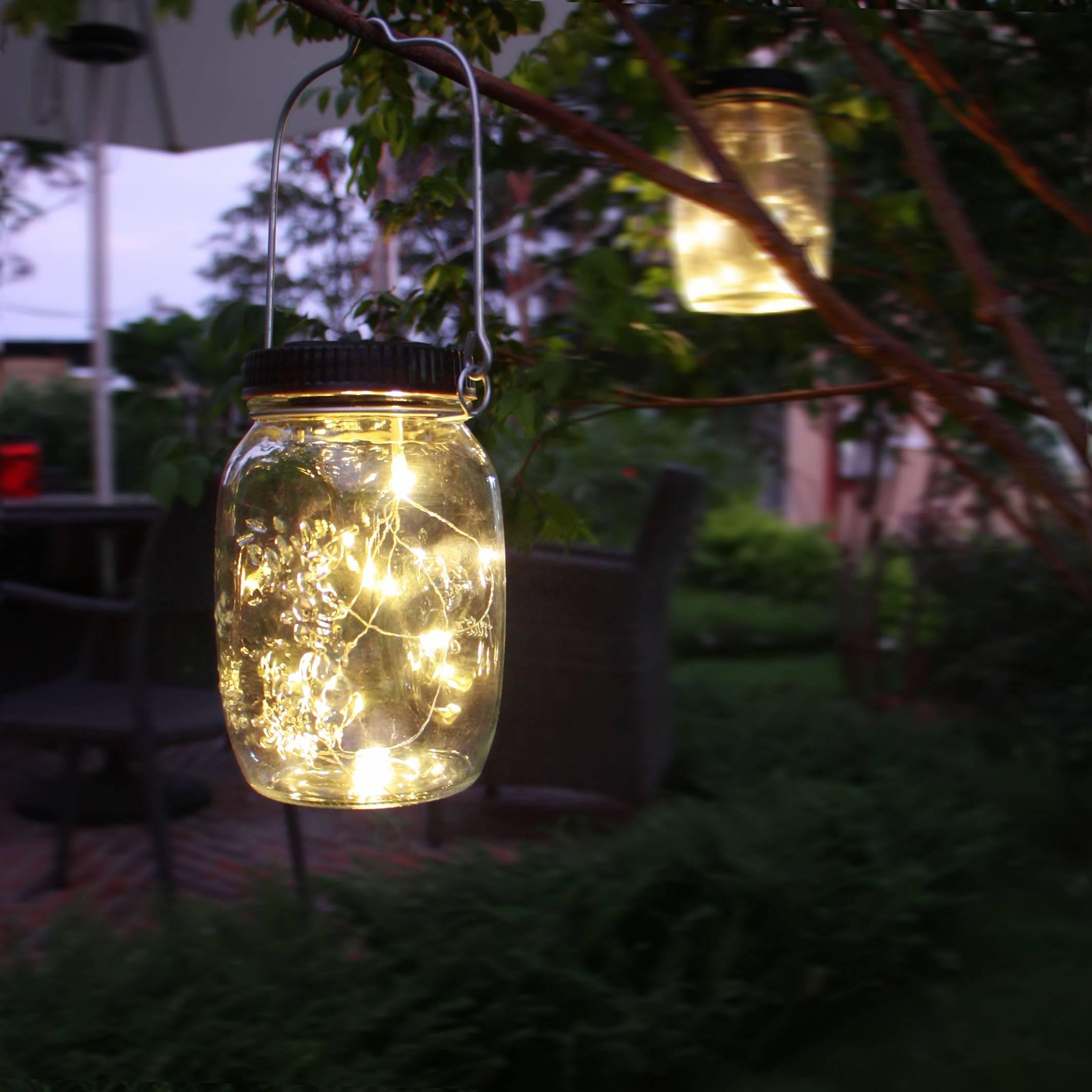 Solar Powered Firefly Mason Jar KF130063 Asst